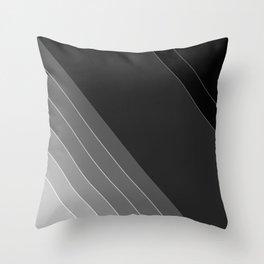 Black and white geometric pattern Throw Pillow