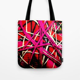 Abstract flower heart Tote Bag