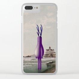 o n t h e b e a c h Clear iPhone Case