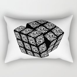 qr cube Rectangular Pillow