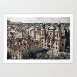 Prague rooftop Art Print