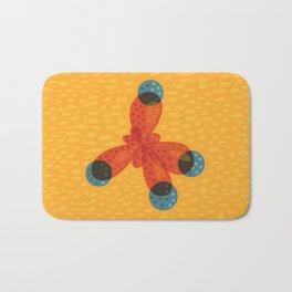 Orange Methane Molecule Bath Mat