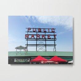 Public Market Seattle Washington, Original Fine Art Photography Architecture Home Decor Gift Icon Metal Print