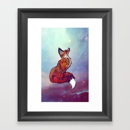 Space Fox Framed Art Print