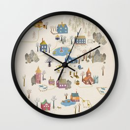 Little Village Wall Clock