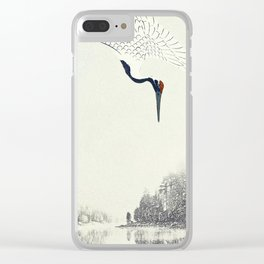 Crane in view Clear iPhone Case
