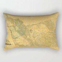 Map of Alameda 1857 Rectangular Pillow