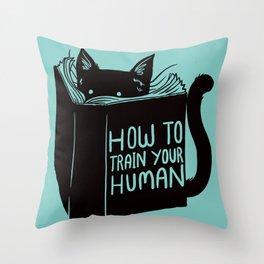 Cat Reader Advice Throw Pillow