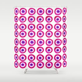 Evil Eye Amulet Talisman in Pink Shower Curtain
