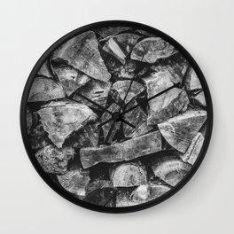 Woodpile | Firewood Stack Wall Clock