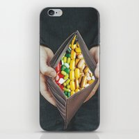 pills iPhone & iPod Skins featuring pills by marzesu collages