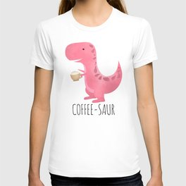Coffee-saur | Pink T-shirt