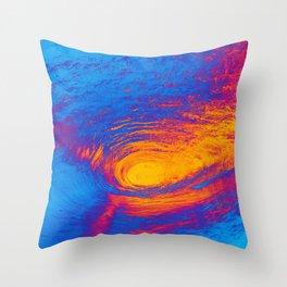 Pop Art Crashing Wave Throw Pillow