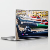 sport Laptop & iPad Skins featuring chars à voile, sport by Sébastien BOUVIER