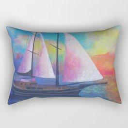 Bodrum Turquoise Coast Gulet Cruise Rectangular Pillow