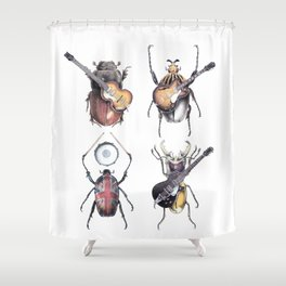 Meet the Beetles (white option) Shower Curtain