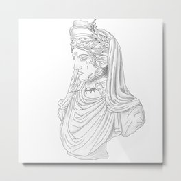 Tatted bust  Metal Print
