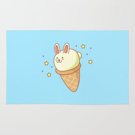 Bunny-lla Ice Cream Rug