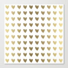 Smal Golden Hearts Canvas Print