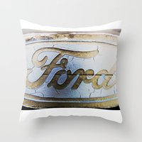 ford Throw Pillows featuring Ford by Sarah Welch