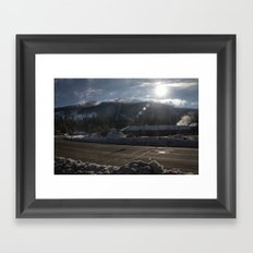 Snow Town  Framed Art Print