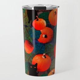 Pumpkins and Black Cats Travel Mug