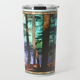 MOUNTAIN LAKE THROUGH HEMLOCK TREES Travel Mug