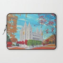 Salt Lake City, Utah LDS Temple in Autumn Laptop Sleeve