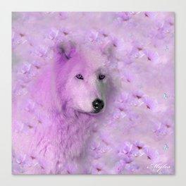 PURPLE WOLF FLOWER SPARKLE Canvas Print