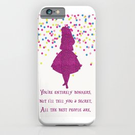 Pink glitter and confetti bonkers iPhone Case