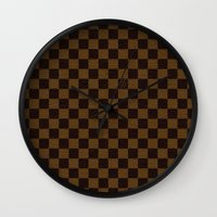 "lv Wall Clocks featuring LV by ""CVogiatzi."