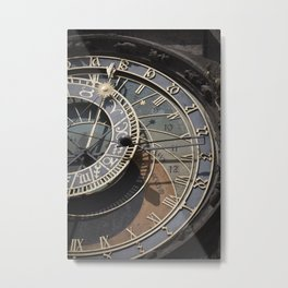 Astronomical clock Prague Metal Print