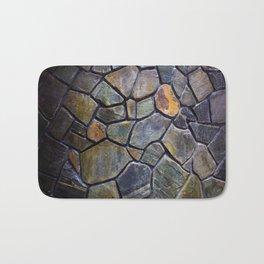 Mosaic Stone Wall Bath Mat