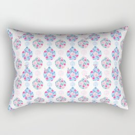 Butterflies and Asian Jars Rectangular Pillow