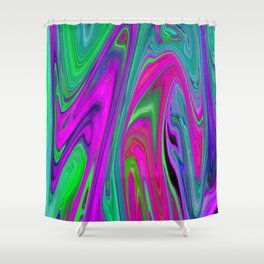 Neon Lights Shower Curtain