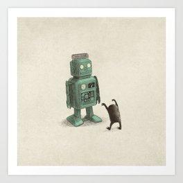 Robot Vs Alien Art Print