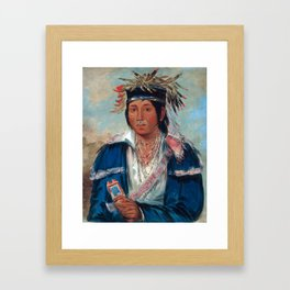Kee-mo-rá-nia, No English, a Dandy by George Catlin Framed Art Print