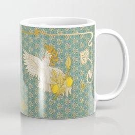 Hoopoe Parrot and Citrus Coffee Mug