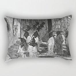 Porch of the Casa do Capitulo Rectangular Pillow