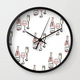 PATTERN II Rosé & Sparkling Wine Wall Clock