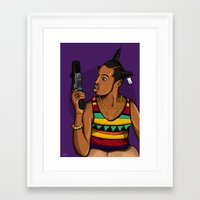 mcfreshcreates Framed Art Prints featuring Loc'd Out by McfreshCreates