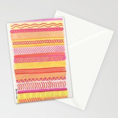 Tribal#1 (Orange/Pink/Yellow) Stationery Cards