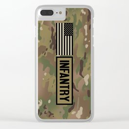Infantry (Camo) Clear iPhone Case