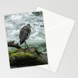 Great Blue Heron on the McKenzie, No. 1 Stationery Cards