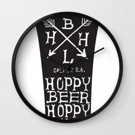 Hoppy Beer Hoppy Life Glass Design Wall Clock