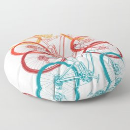 Colorful Bicycle Floor Pillow