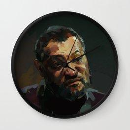 𝗡𝗼𝘃.𝟳   Society6 Online Photography - Home & Office Art - Laurence John Fishburne III 45 Wall Clock
