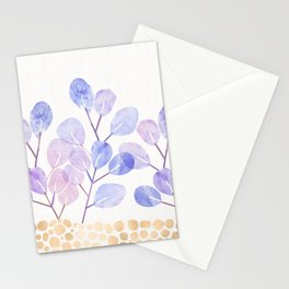 Bonsai Eucalytpus with Metallic Accents Stationery Cards