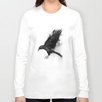 crow Long Sleeve T-shirts featuring Crow by Adam Flynn