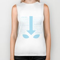 the last airbender Biker Tanks featuring The Last Airbender by first a shadow